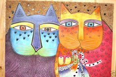 Laurel Burch Collectable Art Painting Hand Painted Brights Best Friend Cats New in Art, Art from Dealers & Resellers, Folk Art & Primitives | eBay
