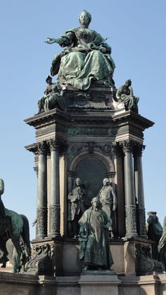 Statue of Maria Theresia 1717 - 1780 Archduchess of Austria at…