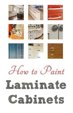 How To Paint Laminate Cabinets (Painted Furniture Ideas | Painted Furniture Ideas)