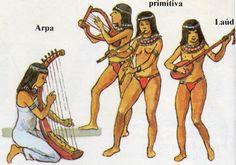 En Egipto la mayoría de los músicos que actuaban para los nobles eran mujeres y a menudo eran enterrados cerca de las tumbas reales. La música intervenía en todas las etapas de la vida. Bailarinas y flautistas acompañaban a los trabajadores en los campos y cuando celebraban la fiesta de la vendimia. Aquí puede ver el tipo de instrumentos que los egipcios tocaban