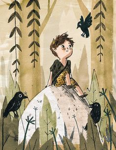 Ella Bailey: still on the theme of Peter Pan, a fun little test illustration! Art And Illustration, Illustration Inspiration, Character Illustration, Watercolor Illustration Children, Book Illustrations, Dibujos Cute, Storyboard, Character Art, Animation Character