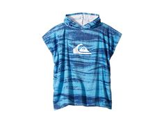 Quiksilver Kids Hoodie Towel (Toddler/Little Kid) (Sky Blue) Bath Towels. Keep them cozy with the soft comfort of the Quiksilver Hoodie Towel! Changing towel in a soft cotton. Soft cotton terry lining. Printed logo adorns front. Cotton velour terry fabric. 100% cotton. Machine wash cold  tumble dry low. Length: 24 Imported. #QuiksilverKids #Home #Bath #Towels #Blue