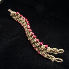 Hemp Jewelry Wood Bead Bracelet Cuff   Free by STUFFandTHINGS, $8.00