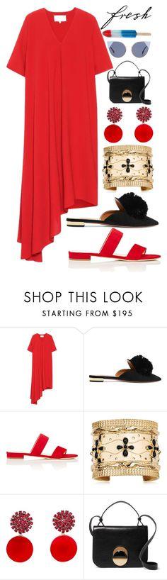 """""""Red Dress"""" by piedraandjesus on Polyvore featuring moda, Maison Margiela, Aquazzura, Barneys New York, Aurélie Bidermann, Marni y Fendi"""
