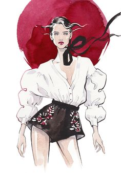 Fashion illustration for Sky and More shopping mole fashion event Illustrator: . - Fashion illustration for Sky and More shopping mole fashion event Illustrator: Alina Grinpauka Mat - Abstract Illustration, Fashion Illustration Sketches, Illustration Mode, Fashion Sketches, Fashion Design Illustrations, Fashion Sketchbook, Watercolor Fashion, Watercolor And Ink, Looks Party