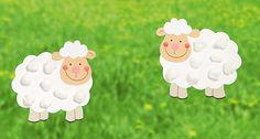 Echt Schaf: Fensterbilder für kleine Hände