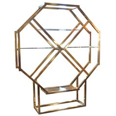1stdibs - Octagonal Brass Etagere in the style of Milo Baughman explore items from 1,700  global dealers at 1stdibs.com