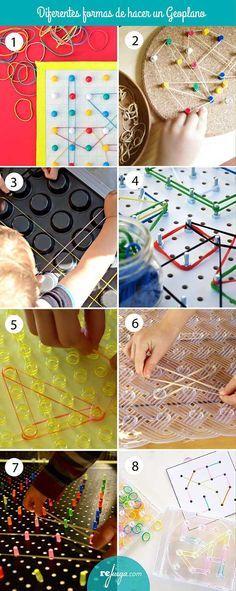diferentes formas de hacer un geoplano y qué hacer con él  #geoplano #matemáticas #primaria