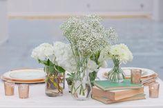 vintage book wedding decor / Jennifer Blair Photography