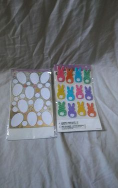 Bunny sticker comes with 2 sheets with 12 bunnies and the Egg stickers has 4 sheets with 11 eggs. | eBay!