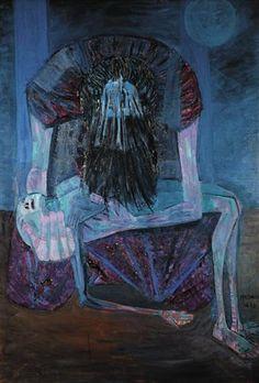 Mulher com filho morto - Candido Portinari - Expressionism