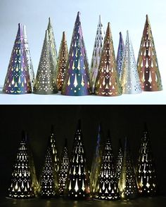 I really love these Christmas tree lights. They are very unique and pretty. My favorite are the brownish, bronze ones. #christmaslights #christmaslantern  #metal #christmasdecor #commissionlink
