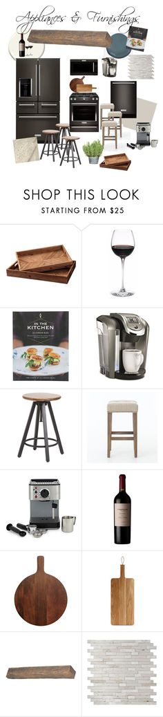 """""""Traditional Rustic - Appliances & Furnishings"""" by evan-hunt on Polyvore featuring interior, interiors, interior design, home, home decor, interior decorating, DeWitt, Keurig, Cuisinart and Eva Solo"""