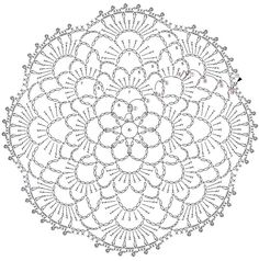 World crochet: Motive 12 Crochet Symbols, Crochet Doily Patterns, Crochet Mandala, Crochet Chart, Lace Patterns, Crochet Motif, Irish Crochet, Crochet Designs, Crochet Doilies