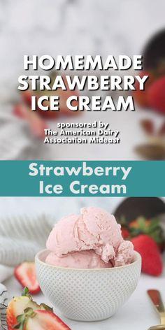 Homemade Strawberry Ice Cream, Homemade Ice Cream, Strawberry Recipes, Ice Cream Videos, Ice Cream Ingredients, Mantecaditos, Ice Cream At Home, No Churn Ice Cream, Fun Baking Recipes