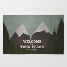 Welcome to Twin Peaks Area & Throw Rug