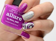 ZigiZtyle: Leadlight stamping, Color Club - Harp On It, FUN Lacquer - 24 Karat Diamond, Essie - No Shrinking Violet, Picture Polish - Allure Fun Lacquer, Picture Polish, Color Club, Essie, Nail Colors, Nailart, Nail Designs, Projects To Try, Stamping