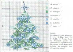 Cross-stitch Christmas Tree