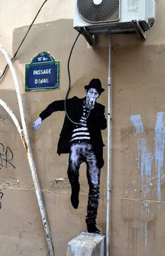 rock star by Levalet street art in Paris