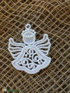 Csipkeangyal mini-1 (Cottonfresh) - Meska.hu Crochet Earrings