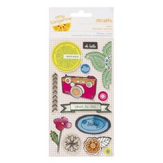 Amy Tangerine Sketchbook fabric stickers