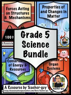 These Units are specifically meant to cover the Grade 5 Ontario Science Curriculum: All four science strands are covered in this bundle: Understanding Matter and Energy: Properties of and Changes in Matter 5th Grade Social Studies, 5th Grade Science, Social Studies Activities, Science Curriculum, Science Education, Science Activities, Science Ideas, Changes In Matter, Human Body Activities