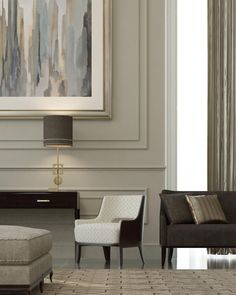its huge and i love it. look at the room scale with all the furniture  Beautiful moulding | Mimar Interiors