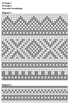 handwarmers pattern with chart Fair Isle Knitting Patterns, Fair Isle Pattern, Knitting Charts, Knitting Stitches, Knit Patterns, Free Knitting, Knitting Socks, Stitch Patterns, Cross Stitch Borders