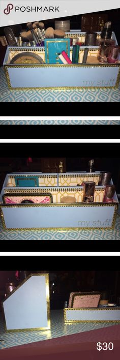 Blinged Out Custom Makeup organizer Brand new. Custom made. Tiffany blue. See matching organizer in other listing MAC Cosmetics Makeup