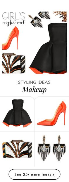 """""""Girl's Night Out, Beauty Edition."""" by inthetimelessness on Polyvore featuring Christian Louboutin, Parlor, Emilio Pucci, Lulu Frost, women's clothing, women, female, woman, misses and juniors"""