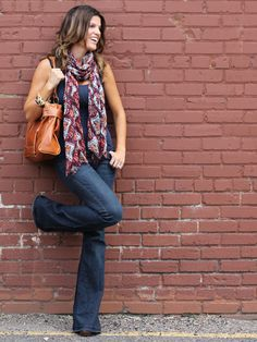 Adding a summer scarf for a casual weekend look!    http://marionberrystyle.blogspot.com/