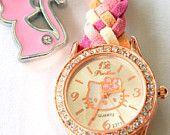 Hello Kitty braided watch