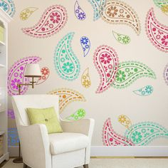 Hey, I found this really awesome Etsy listing at https://www.etsy.com/listing/184346730/paisley-stencil-pattern-reusable-wall