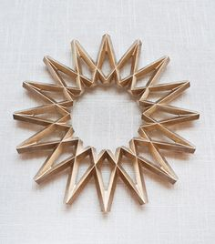 MŪHS Home Galaxy Star Brass Trivet