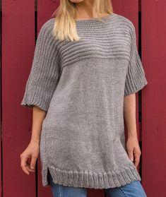 Big Comfy Sweater Free Knitting Pattern LW5270