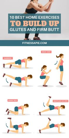Having a nice and firm butt is the goal of many who workout. Women are at the forefront of this, but men also want a firm butt. Isolating your butt with just your body weight can be challenging, but it can be done. Here are the best glute building exercises that you can perform at home right now. #homeexercises #glutesworkout #buttworkout #exercise Workout List, Toning Workouts, Fun Workouts, At Home Workouts, Exercises, Workout Routines, Fitness Workouts, Men's Fitness, Workout Plans