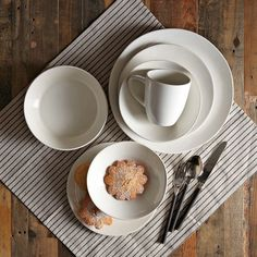 Scape Dinnerware Set - Stone White | west elm