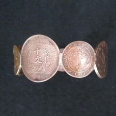 Coin jewelry bracelet bangle copper old coins