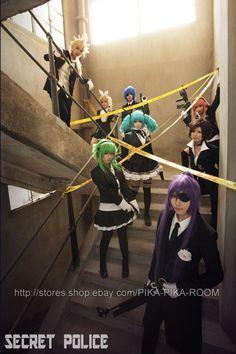 VOCALOID - Secret Police - Len, Rin, KAITO, Miku, luka, MEIKO, GUMI, Gakupo  by PIKAPIKAROOM.deviantart.com on @DeviantArt
