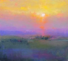 One Tuscan Evening British Contemporary Artist Norman SMITH. Love the blending of colors. Pastel Landscape, Watercolor Landscape, Landscape Art, Landscape Paintings, Acrylic Paintings, Ouvrages D'art, Beautiful Paintings, Painting Inspiration, Abstract Art
