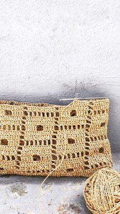 Crochet Chart, Love Crochet, Crochet Motif, Diy Crochet, Crochet Handbags, Crochet Purses, Knitting Patterns, Crochet Patterns, Crochet Market Bag