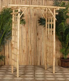 Bamboo Arbor \ Archway to attach material and fairy lights to :-)