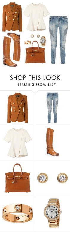 """Fall in the Mercedes"" by fashionably-poorcouture ❤ liked on Polyvore featuring Balmain, Pierre Balmain, Alexander Wang, Ralph Lauren, Hermès and Cartier"