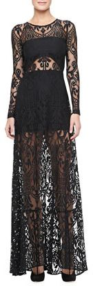 Alexis Marisol Sheer Lace Gown on shopstyle.com