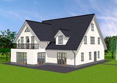Haus mit Einliegerwohnung – Blick auf Terrasse