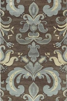 Blue & brown rug for bedroom - good colors for the living room