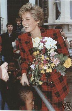 visits Chartham, Kent, Britain October 1990