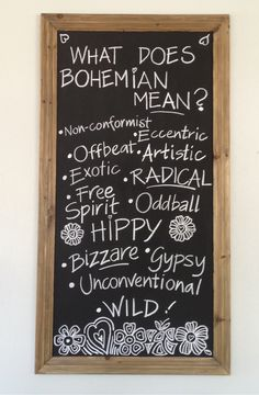 What does bohemian mean?