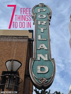 There lots of free things to do in Portland, Oregon. Here are 7 favourites. Oregon Vacation, Oregon Road Trip, Oregon Trail, Oregon Coast, Zermatt, Oh The Places You'll Go, Places To Travel, Travel Destinations, Lagny Sur Marne
