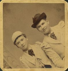 Willa Cather (right) with Louise Pound, University of Nebraska, early 1890s